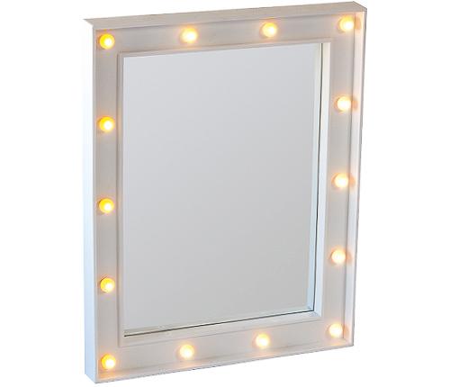 Sminkspegel med lampor