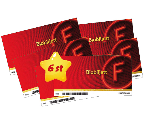 6 st Biobiljetter