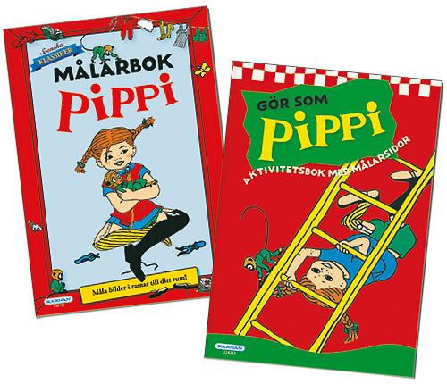 Pippi Målarbok + Pippi Pysselbok