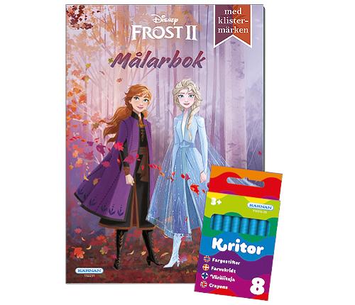 Frost 2: målarbok + kritor