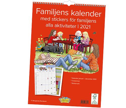 Familjekalender med stickers 2021