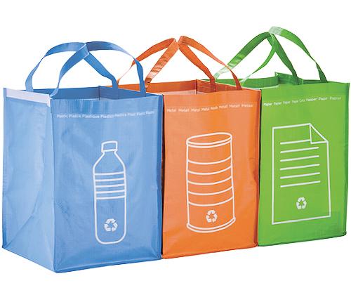 Återvinningskassar, 3-pack