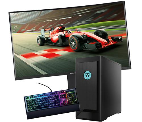 GamingPC med skärm & tangentbord