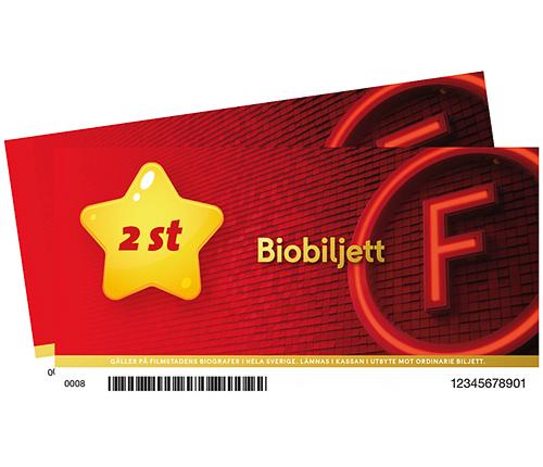 2 st Biobiljetter