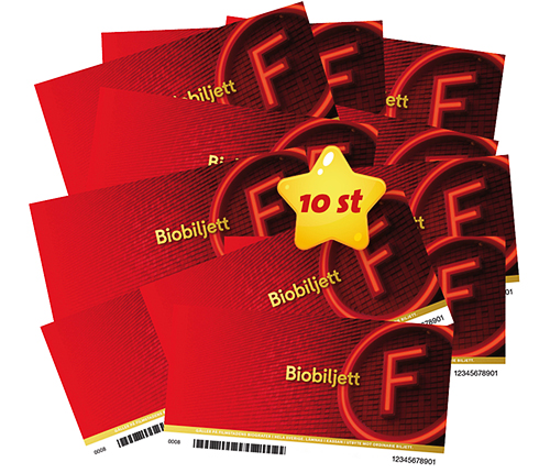 10 st Biobiljetter