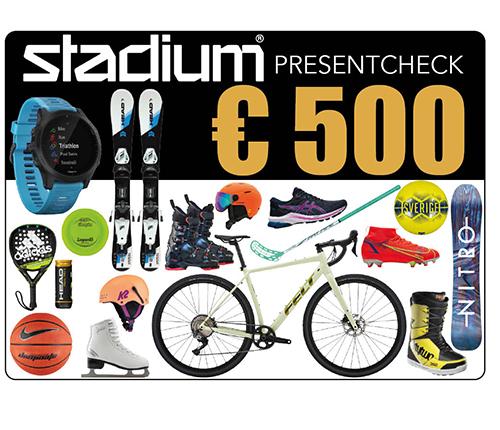Stadium Presentcheck 500 €