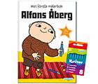 Alfons Åberg: målarbok + kritor