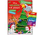 Disney målarbok med julpyssel + kritor