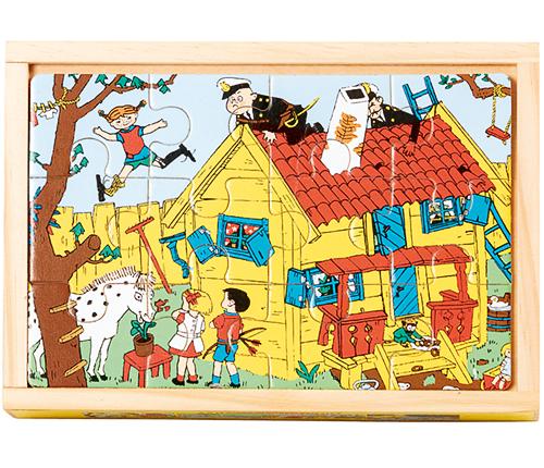 4 st träpussel – Pippi Långstrump