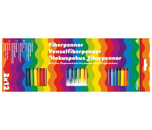 Fiberpennor – 36 st