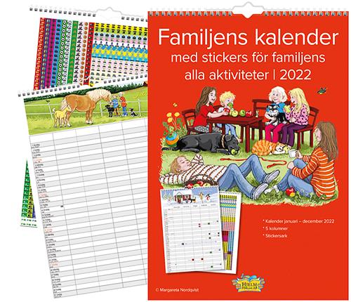 Familjekalender 2022 – med stickers