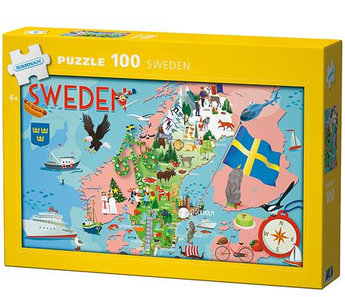 Pussel – Sweden, 100 bitar