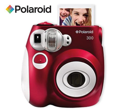 Polaroidkamera, röd