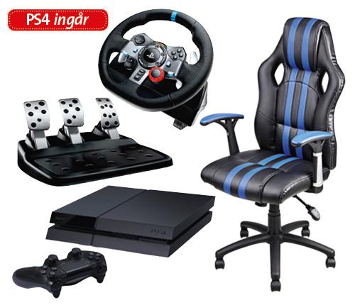 Gaming-set (stol+ratt+PS4)