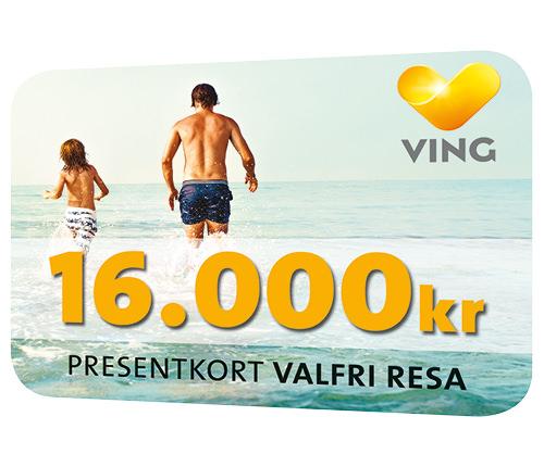Ving presentkort 16000 kr