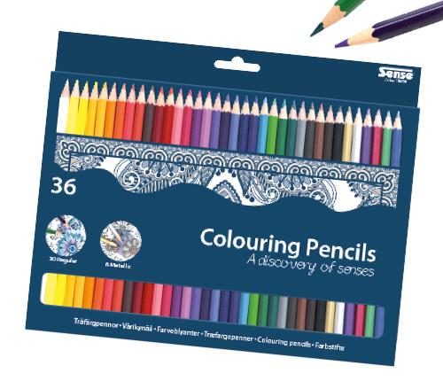 Träfärgpennor