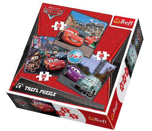 Pussel Cars 3-i-1