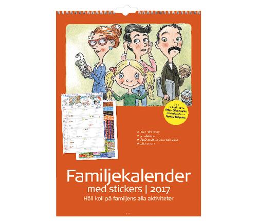 Familjekalender stickers 2017