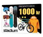 Stadium presentcheck 1000 kr