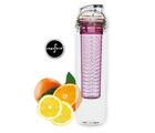 Flaska m fruktbehållare, rosa