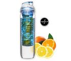 Flaska m fruktbehållare, blå