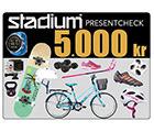 Stadium Presentcheck 5 000 kr