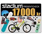 Stadium Presentcheck 17 000 kr
