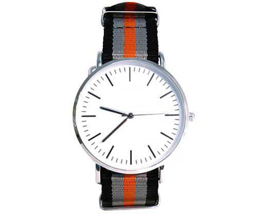 Klocka - Svart, grå, orange