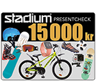 Stadium Presentcheck 15 000 kr
