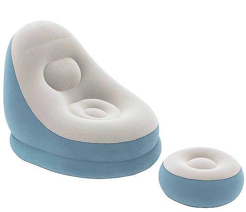 Airbed, ljusblå