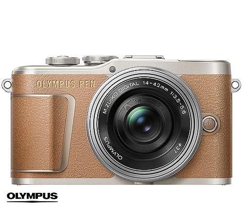 Olympus Systemkamera, brun