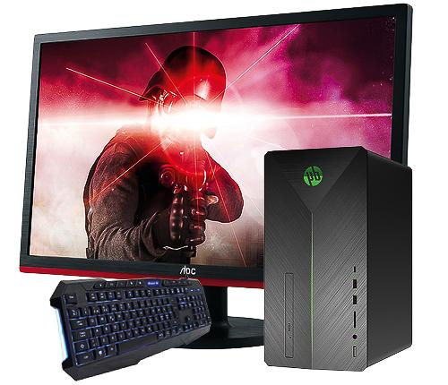 Gaming-PC, skärm & tangentbord